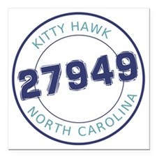 "Kitty Hawk, North Caroli Square Car Magnet 3"" x 3"""