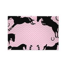 English Horses Rectangle Magnet