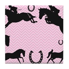 English Horses Tile Coaster