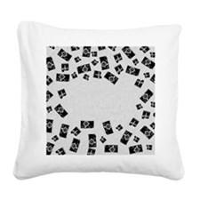 Old Cameras Square Canvas Pillow