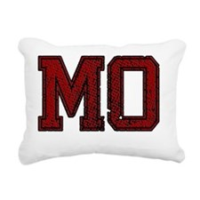 MO, Vintage Rectangular Canvas Pillow