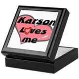 karson loves me Keepsake Box