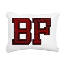 BF, Vintage Rectangular Canvas Pillow