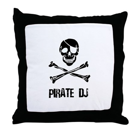 Pirate DJ Throw Pillow
