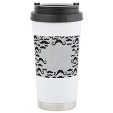 Mustache Frame Ceramic Travel Mug
