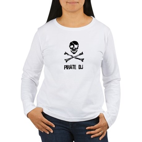 Pirate DJ Women's Long Sleeve T-Shirt