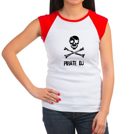 Pirate DJ Women's Cap Sleeve T-Shirt