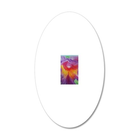 orchid 20x12 Oval Wall Decal