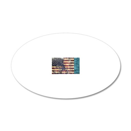 BE Patriotic 20x12 Oval Wall Decal