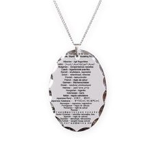 slide rule translations Necklace
