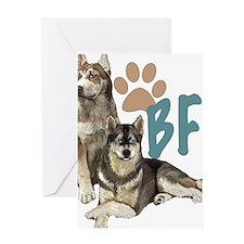 Siberian Husky BFF Greeting Card