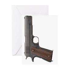 US Colt 45 Pistol Greeting Card