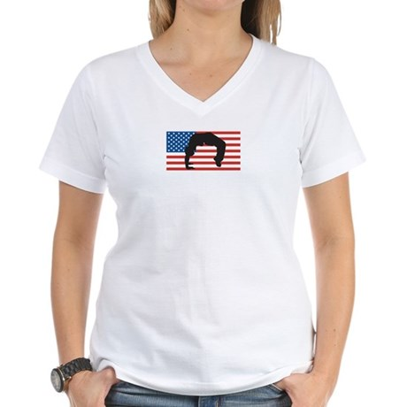Dance For America Women's V-Neck T-Shirt
