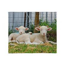 Ewephorics Buddy Lambs Throw Blanket