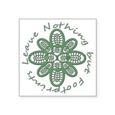 "boot nothing but footprints Square Sticker 3"" x 3"""