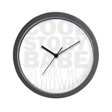 cool-story-babe-W Wall Clock