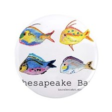 "Chesapeake Bay, Virginia 3.5"" Button"