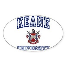 KEANE University Oval Decal