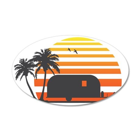 California Streamin 35x21 Oval Wall Decal