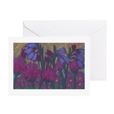 Blue Bells & Bee Balm Greeting Cards(Pk of 10)