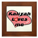 kaliyah loves me  Framed Tile