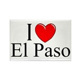 """I Love El Paso"" Rectangle Magnet"