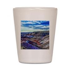 painted desert Shot Glass