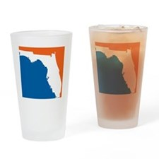 Florida Colors (Gators) Drinking Glass