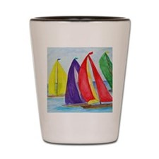 Colorful Regatta Sails Shot Glass