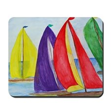 Colorful Regatta Sails Mousepad
