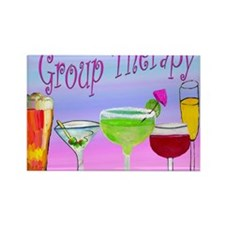 Group Therapy Rectangle Magnet
