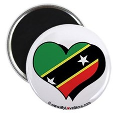 "I Love Saint Kitts & Nevis 2.25"" Magnet (100 pack"