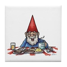 Morning Sunshine Gnome Tile Coaster