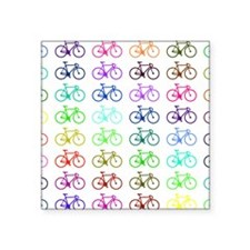 "Fixie pop art Square Sticker 3"" x 3"""