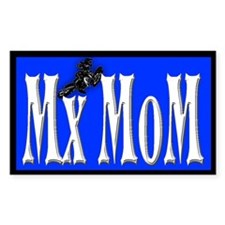Mx-Mom Yamaha Motocross Rectangle Decal