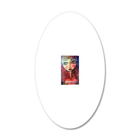 Artistic 20x12 Oval Wall Decal