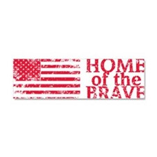 Home-of-the-Brave-Red Car Magnet 10 x 3