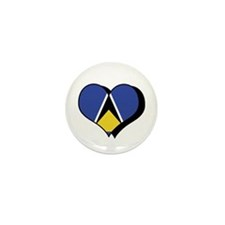 I Love Saint Lucia Mini Button (100 pack)