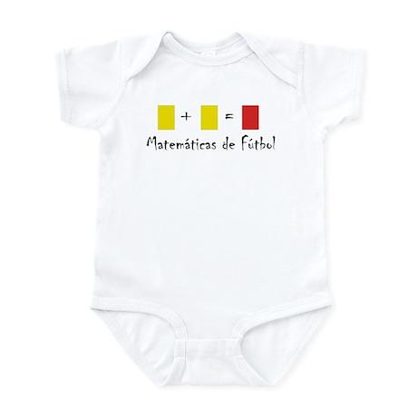 Matematicas de Futbol Infant Bodysuit