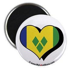 "I Love Saint Vincent Grenadines 2.25"" Magnet (100"