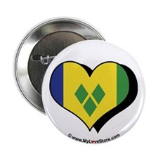 "I Love Saint Vincent Grenadines 2.25"" Button (100"