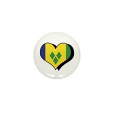 I Love Saint Vincent Grenadines Mini Button (100