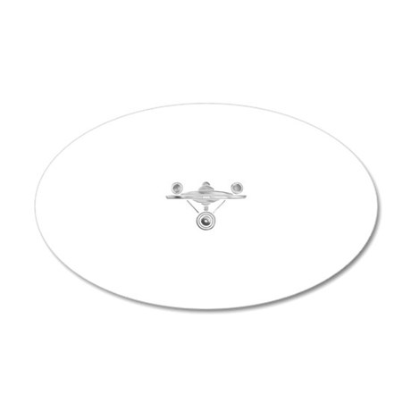 Enterprise Silver 20x12 Oval Wall Decal