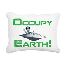 Occupy Earth! Rectangular Canvas Pillow