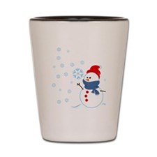 Cute Snowman Shot Glass