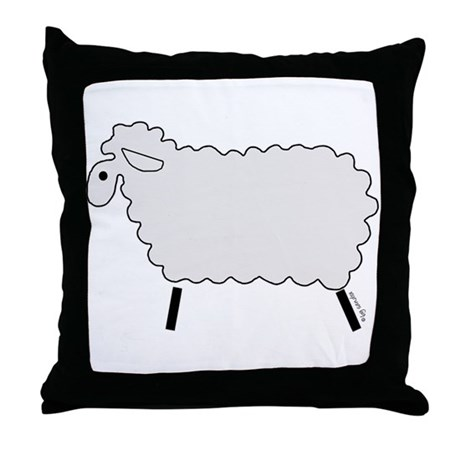 Cute lamb Throw Pillow