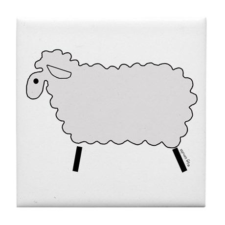 Cute lamb Tile Coaster
