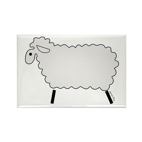 Cute lamb Rectangle Magnet (100 pack)