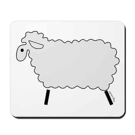 Cute lamb Mousepad
