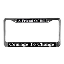 Courage To Change License Plate Frame